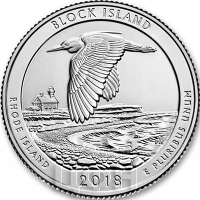США 25 центов 2018 год «Вояджерс — национальный парк» (реверс).jpg