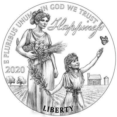 США 100 долларов 2020 год (реверс).jpg