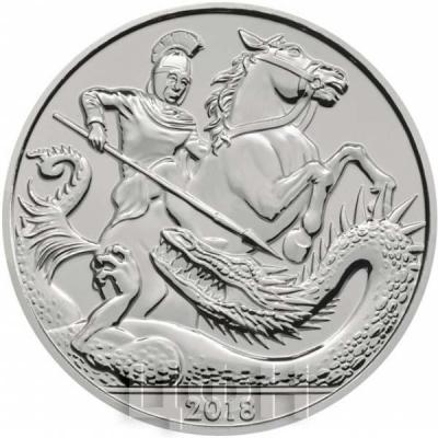Великобритания 5 фунтов 2018 год «Пятый день рождения Его Королевского Высочества принца Джорджа Кембриджского» (реверс).jpg