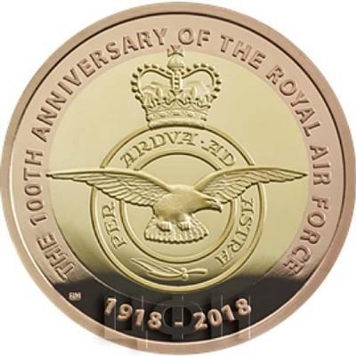 Великобритания 2 фунта 2018 год «100-летие Королевских ВВС» (реверс).jpg
