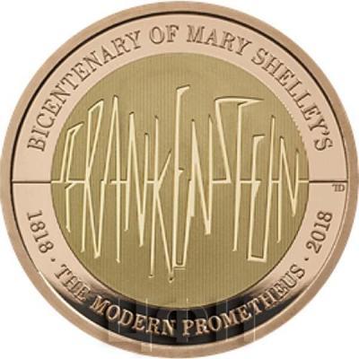 Великобритания 2 фунта 2018 год «Франкенштейн» (реверс).jpg