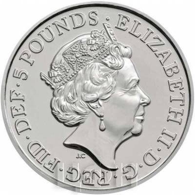 Великобритания 5 фунтов 2018 год (аверс).jpg