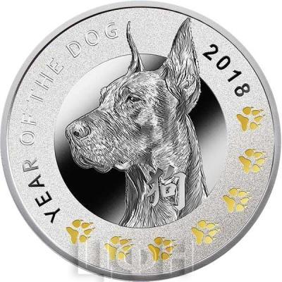 Ниуэ 1 доллар 2018 «Год Собаки» (реверс).jpg