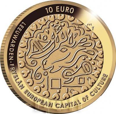 Нидерланды 10 евро 2018 Леуварден (реверс).jpg