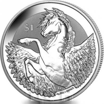 Британские Виргинские острова 1 Доллар 2018 - Пегас (реверс).jpg