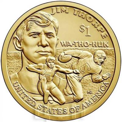 США 1 доллар 2018 год Джим Торп (реверс).jpg