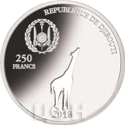 Джибути 250 франков 2018 GIRAFFE (аверс).jpg
