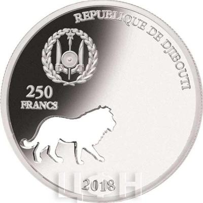 Джибути 250 франков 2018 Лев (аверс).jpg
