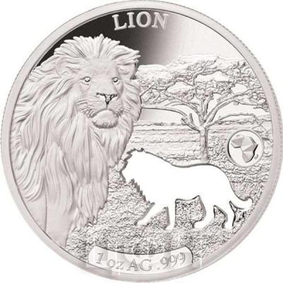 Джибути 250 франков 2018 Лев (реверс).jpg