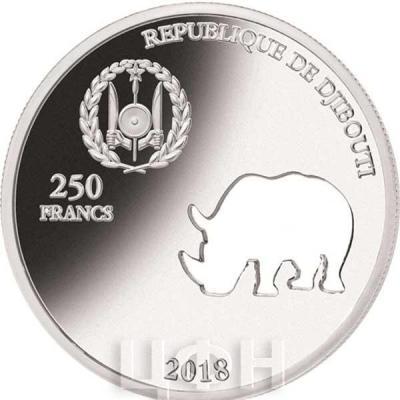 Джибути 250 франков 2018 RHINOCEROS (аверс).jpg