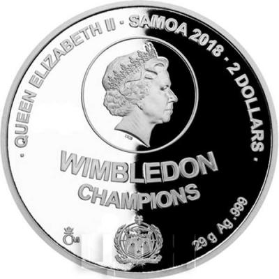 Самоа 2 доллара 2018 год «Легенды тенниса».jpg