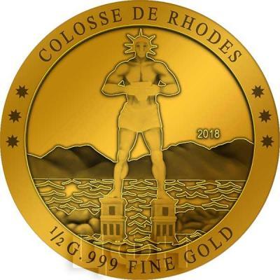 Кот-д'Ивуар 100 франков 2018 «Колосс Родосский» (реверс).jpg