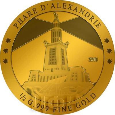 Кот-д'Ивуар 100 франков 2018 «Александрийский маяк»(реверс).jpg