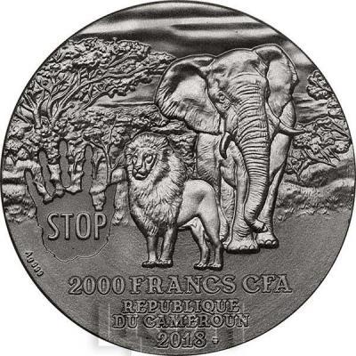 Камерун 2000 франков 2018  CECIL THE LION  (аверс).jpg
