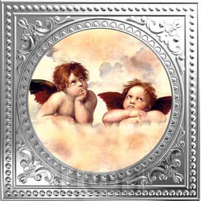 Ниуэ 1 доллар  2018 «Два ангела - Рафаэль Санти» (реверс).jpg