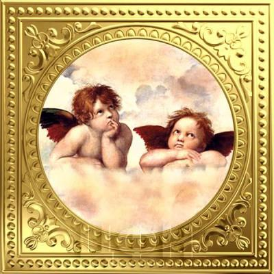 Ниуэ 1 доллар  2018 «Два ангела - Рафаэль Санти» золото (реверс).jpg