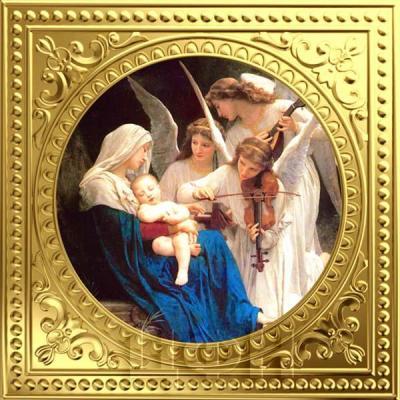 Ниуэ 1 доллар  2018 золото «Ангельское пение. Вильям Бугро. 1881. Музей Гетти» (реверс).jpg