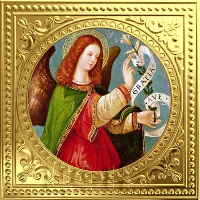 Ниуэ 1 доллар  2018 золото «Ангел Благовещения» (реверс).jpg