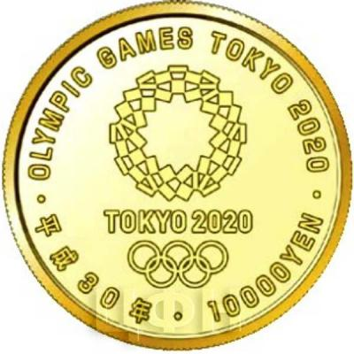 Япония 10 000 йен 2018 год «Олимпийские игры 2020 года» (аверс).jpg