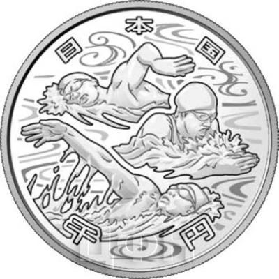 Япония 1 000 йен 2018 год «Олимпийские игры 2020 года» (реверс).jpg