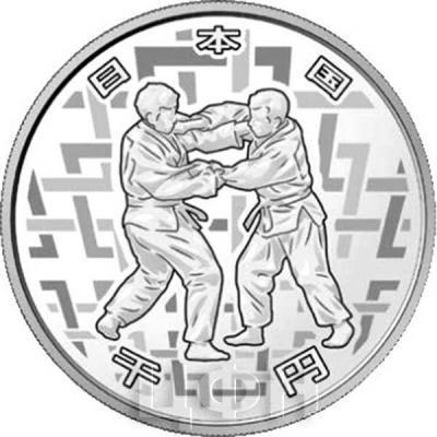 Япония 1 000 йен 2018 год «Паралимпийские игры 2020 года» (реверс).jpg