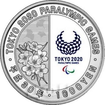 Япония 1 000 йен 2018 год «Паралимпийские игры 2020 года» (аверс).jpg