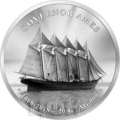 Бенин 1000 франков 2018 год «Губернатор Эймс» (реверс).jpg