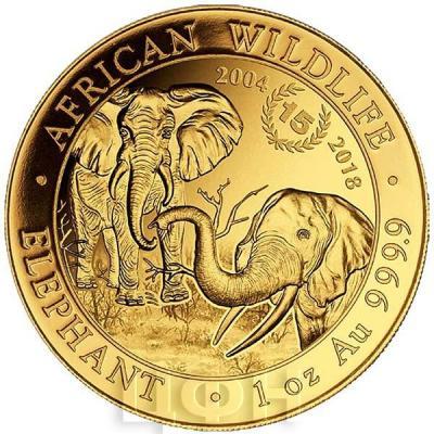 Сомали 2018 год «Слон» золото (реверс).jpg