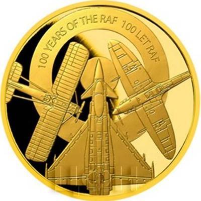 Ниуэ 25 долларов 2018 золото «100 лет RAF» (реверс).jpg