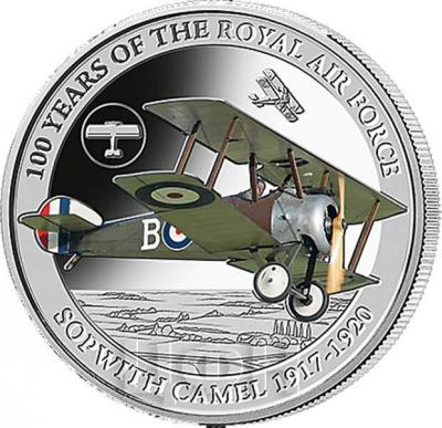 Соломоновы Острова 5 долларов  2018 «SOPWITH CAMEL 1917 - 1920» (реверс).jpg