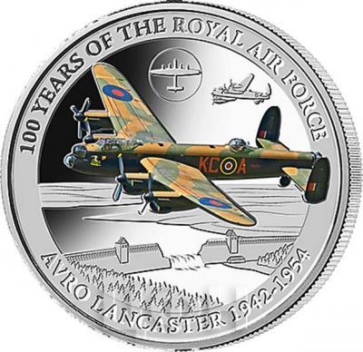 Соломоновы Острова 5 долларов  2018 «AVRO LANCASTER 1942 - 1954» (реверс).jpg