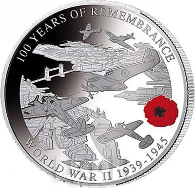Соломоновы Острова 1 доллар  2018 «WORLD WAR II 1939 - 1945» (реверс).jpg