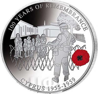 Соломоновы Острова 1 доллар  2018 «CYPRUS 1955 - 1959» (реверс).jpg