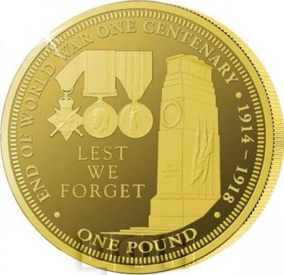Тристан-да-Кунья 1 фунт 2018 год «столетний юбилей Первой мировой войны». (реверс).jpg