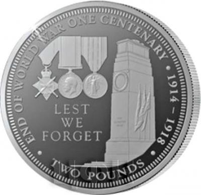 Тристан-да-Кунья 2 фунта 2018 год «столетний юбилей Первой мировой войны» (реверс).jpg