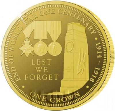 Тристан-да-Кунья 1 крона 2018 год «столетний юбилей Первой мировой войны». (реверс).jpg