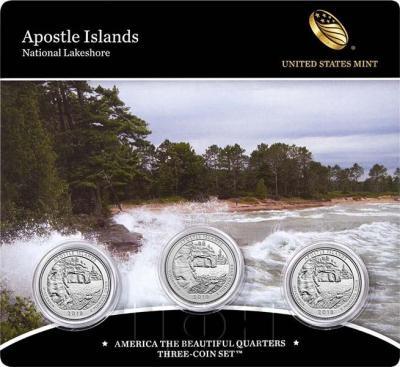 США квотер 2018 год «национальный заповедник Апостольских островов» (упаковка).jpg