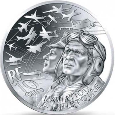 Франция серебро 10 евро «Авиация и история» (реверс).jpg