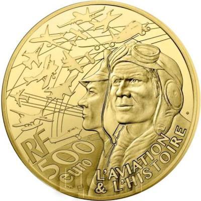 Франция золото 500 евро «Авиация и история» (реверс).jpg