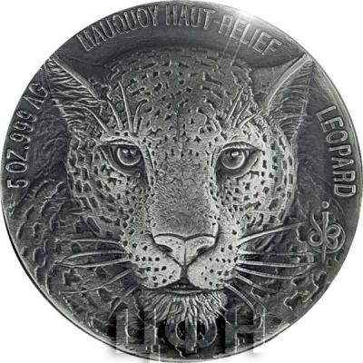 Кот-д'Ивуар 2018 LEOPARD Big Five Mauquoy 5 Oz Silver Coin 5000 Francs (реверс).jpg