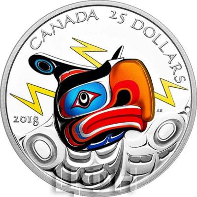 Канада 25 долларов 2018 «Громовая Птица» (реверс).jpg