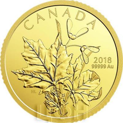 Канада 200 долларов 2018 «Кленовые листья» (реверс).jpg