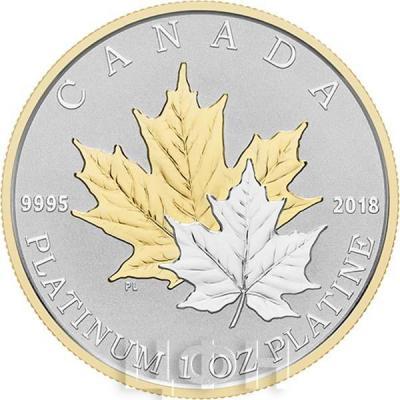 Канада 300 долларов 2018 «Кленовые листья» (реверс).jpg