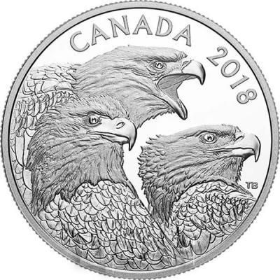 Канада 15 долларов 2018 «Орлы» (реверс).jpg