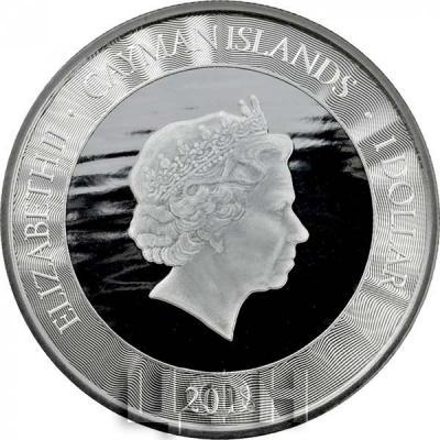 Каймановы острова 1 доллар «Марлин 2018» (аверс).jpg