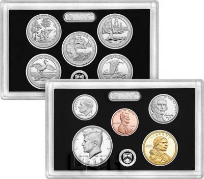 США набор 2018 год «серебряный пруф сет».JPG