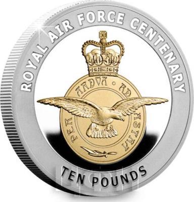 Гернси 10 фунтов 2018 «100 лет ВВС» (реверс).jpg