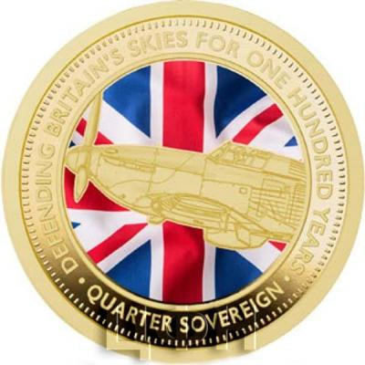 Тристан-да-Кунья 0.5 соверена 2018 «100 лет британским ВВС» (реверс).jpg