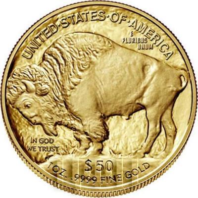 США 50 долларов 2018 год «Американский буффало» (реверс).JPG