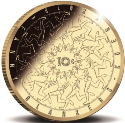 Нидерланды 10 евро 2018 год «Фанни Бланкерс-Кун» (реверс).jpg